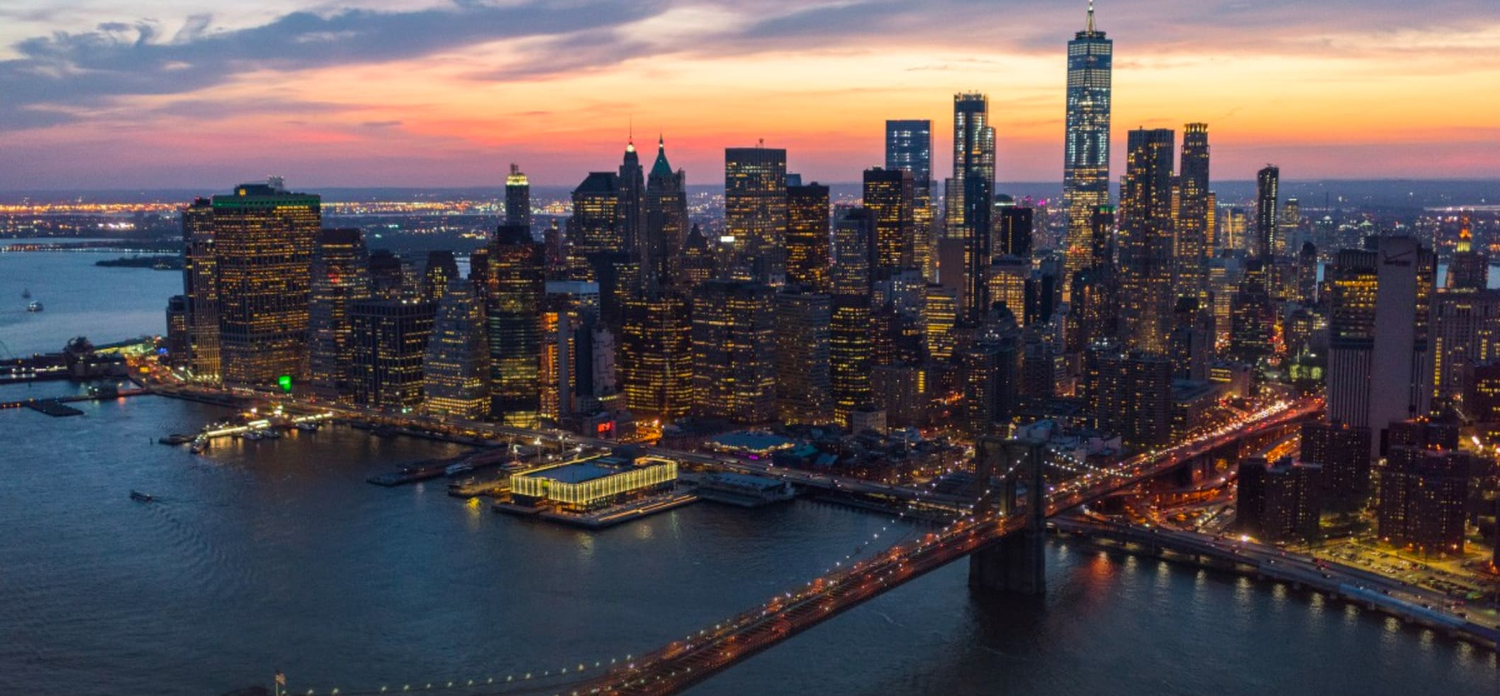 aerial image of the seaport district